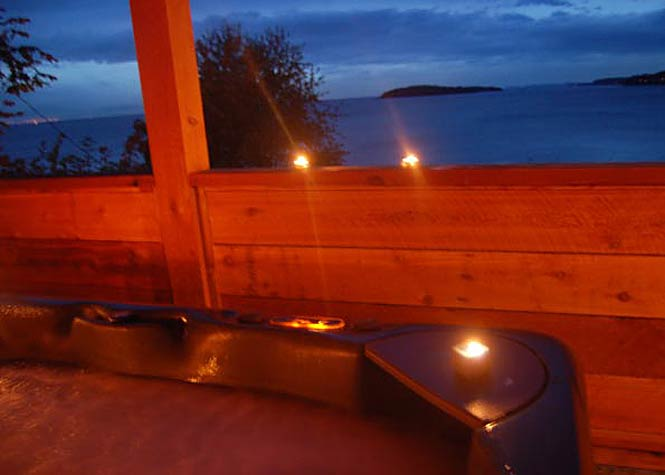 Private hot tub on your covered deck
