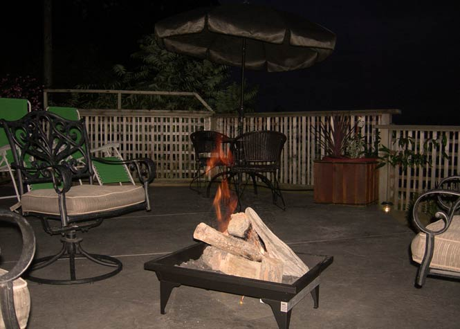 Relax at night at the fire pit